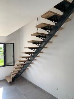 Escalier Intérieur Gris Anthracite